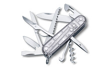 Victorinox Offiziersm. Huntsman SilverTech 91mm, transp. silber